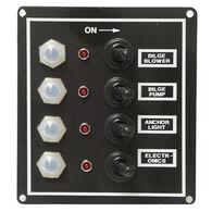 Overton's Waterproof Toggle Switch Panel w/LED Indicators