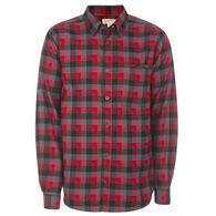 Ultimate Terrain Men's Essential Flannel Long-Sleeve Plaid Shirt