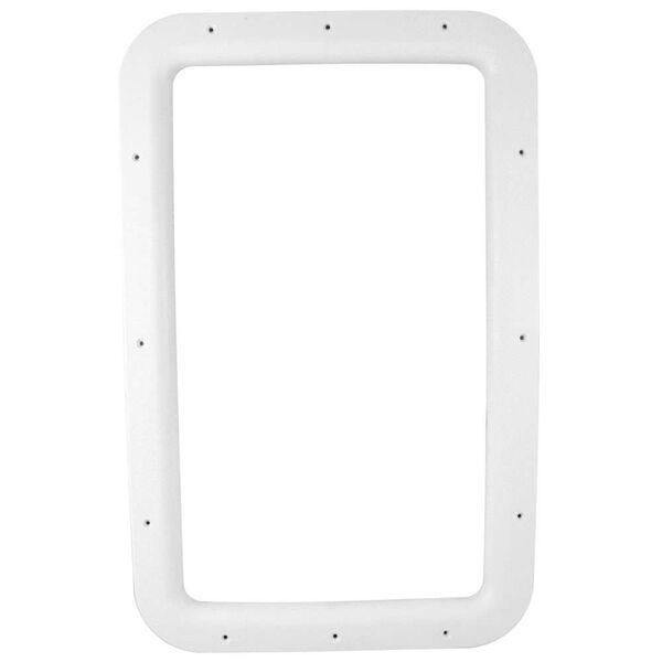 RV Entrance Door Window Frames - Interior White