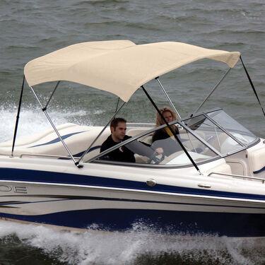 Shademate Sunbrella Stainless 3-Bow Bimini Top 6'L x 46''H 54''-60'' Wide