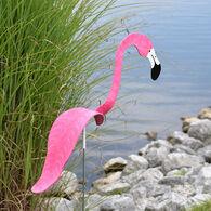Hot Pink Flamingo and Egret Lawn Ornament Set