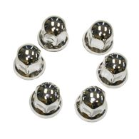 """Stainless Steel 33 mm for 22.5"""" Hub Piloted Wheels, Set of 6"""
