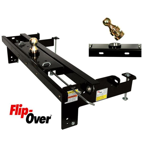 Flip-Over Underbed Gooseneck Hitch, Fits 1999-2007 Ford F250, F350 and 2008-2016 2WD, 4WD F250, F350, F450