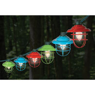 Multicolor Metal Cage Light Set, 10 Lights, 8 1/2' Cord
