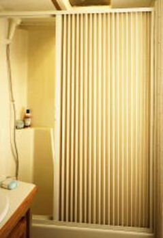 "Pleated Shower Door, Ivory - Up to 60"" W x 57"" L"