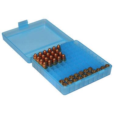 MTM 100 Rd. Blue Flip-Top Ammo Box, .9mm Cal.