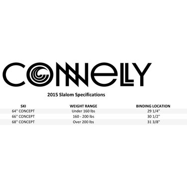 Connelly Concept Slalom Waterski With Stoker Binding And Rear Toe Plate