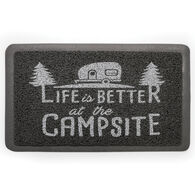"""Life is Better Welcome Mat, Gray, 26 1/2"""" x 15"""""""