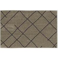 "Mohawk Matador Tan / Earth Gray Rug, 20"" x 34"""