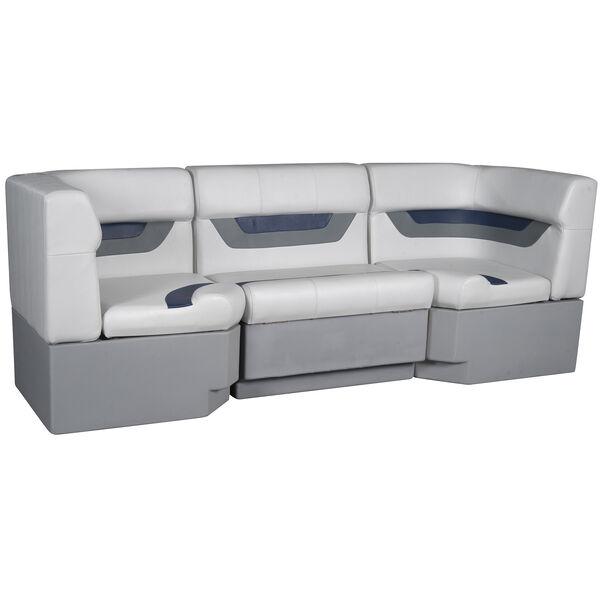 "Designer Pontoon Furniture - 86"" Rear Seat Package, Sky Gray/Navy"