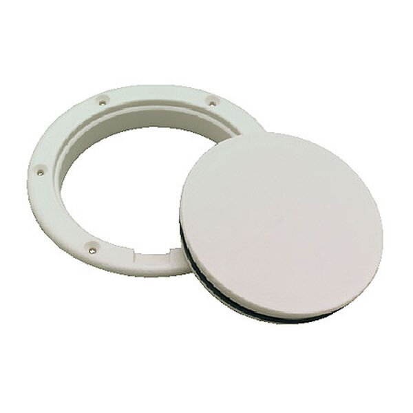 "Pry-Up White Deck Plate, 4"" I.D."