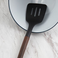 Robert Irvine Oversized Slotted Turner with Wood Decal Handle