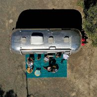 CGEAR Original RV Sand Free Campsite Patio Mat, Blue/Green Large