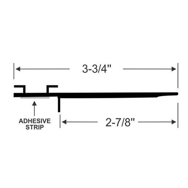 "Steele Rubber Products 3-3/4"" Peel-N-Stick Wiper Seal, 15' long"