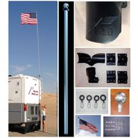 22 Ft. Fiberglass RV Flag Pole Buddy 2.0 Kit