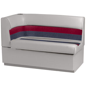 Toonmate Deluxe Pontoon Right-Side Corner Couch - TOP ONLY - Gray/Red/Charcoal