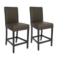 "Kathy Ireland Furniture 25"" Bar Stools, Chestnut, pair"