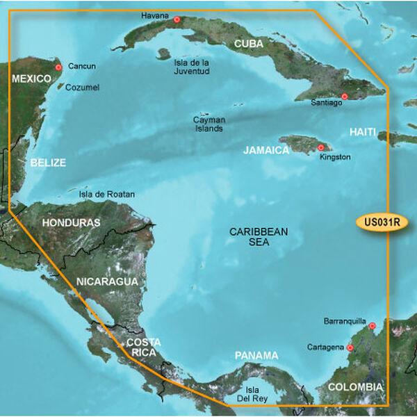 Garmin BlueChart g2 Vision - Southwest Caribbean