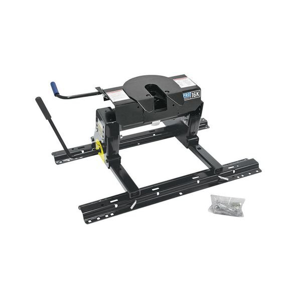 Pro Series 16K 5th Wheel Hitch with Slider and Base Rails