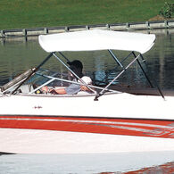 """Shademate Bimini Top White Vinyl Fabric and Boot Only, 4-Bow 8'L, 42""""H, 85""""-90""""W"""