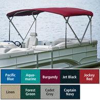 "Traditional Pontoon Bimini Top Sunbrella Acrylic 1-1/4"" Standard Frame 96""-102""W"