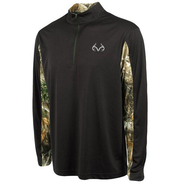 Realtree Men's Stealth Quarter-Zip Wind Shirt