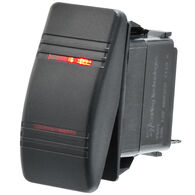 Whitecap Illuminated Contura Rocker Switch, ON-OFF-ON