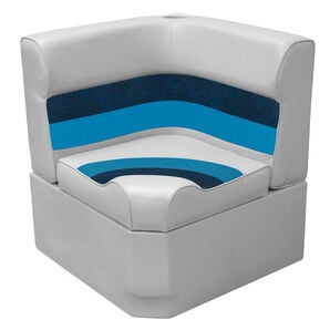 Toonmate Deluxe Radiused Corner Section Seat, SEAT - TOP ONLY - Gray/Navy/Blue