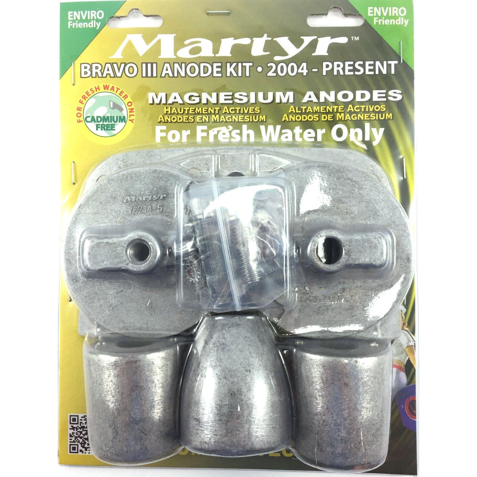 MerCruiser Anode Kit Bravo III 2004-Present - CMBRAVO3KITM Magnesium