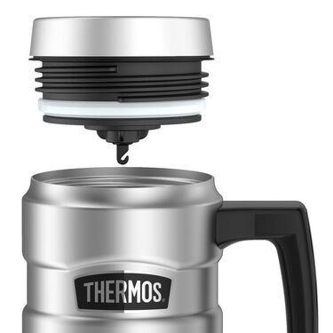 Thermos Stainless King 16-Oz. Vacuum-Insulated Stainless Steel Travel Mug