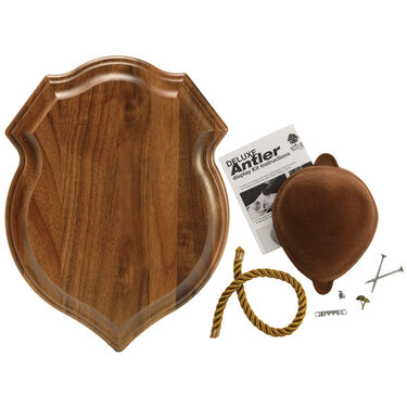 Walnut Hollow Deluxe Antler Display Kit, Solid Walnut