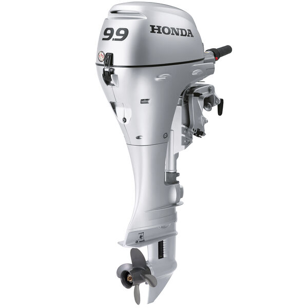 """Honda BFP9.9 Power Thrust Portable OB, Electric Start 9.9HP 25"""" Shaft Power Tilt"""