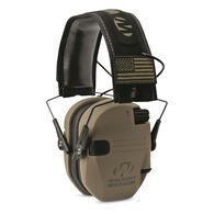 Walker's Razor Patriot Series Slim Shooter Folding Electronic Earmuff, FDE