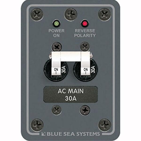 Blue Sea 120V AC Main Circuit Breaker Panel, 30A, white