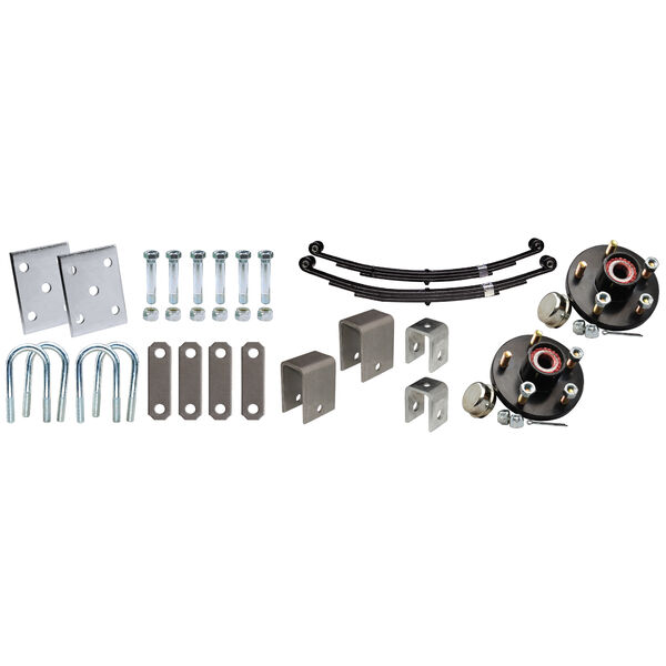 """Tie-Down 1-3/4"""" Single Axle Installation Kit With Painted Hub"""
