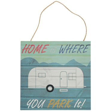 Home is Where You Park It Retro Wall Art