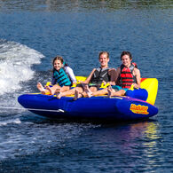 Gladiator Express 3-Person Towable Tube With Lightning Valve