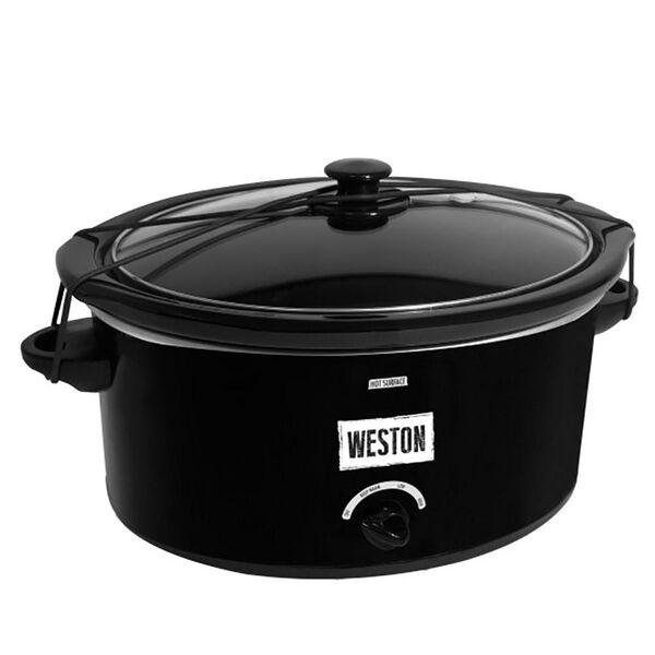 Slow Cooker, 8 Qt with Lid Latch Strap