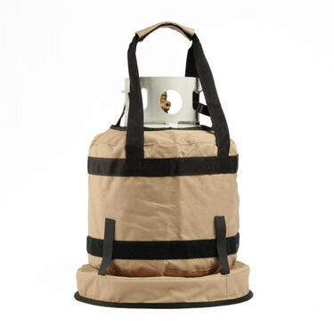 No Tipper Topper Kit with Matching BBQ Utensil Bag, Tan