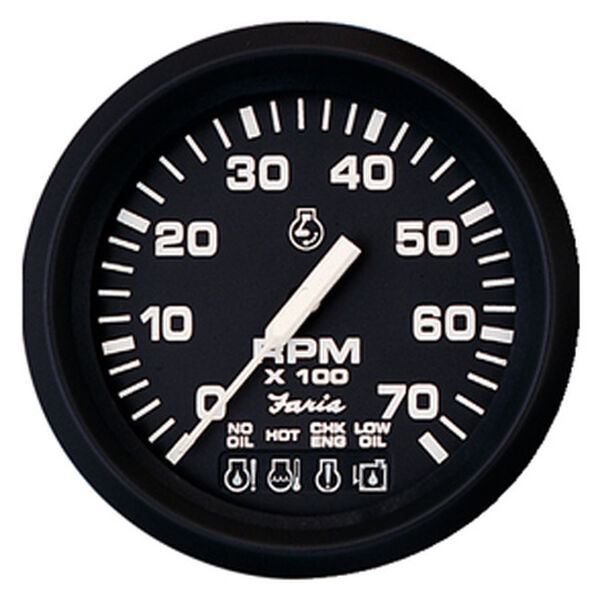 "Faria 4"" Euro Black Series Tachometer, 4,000 RPM Diesel / Magnetic Fly"
