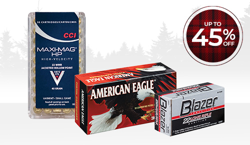 Save up to 45% on firearms & ammo