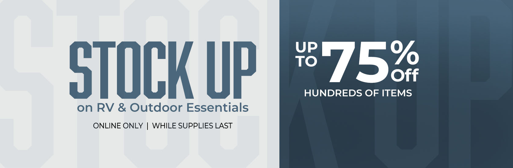 Stock up on RV & Outdoor Essentials