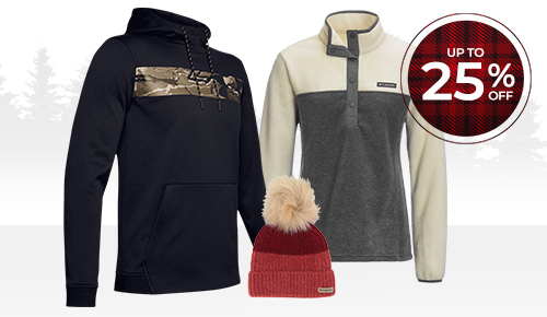 Save up to 25% on select Under Armour & Columbia apparel