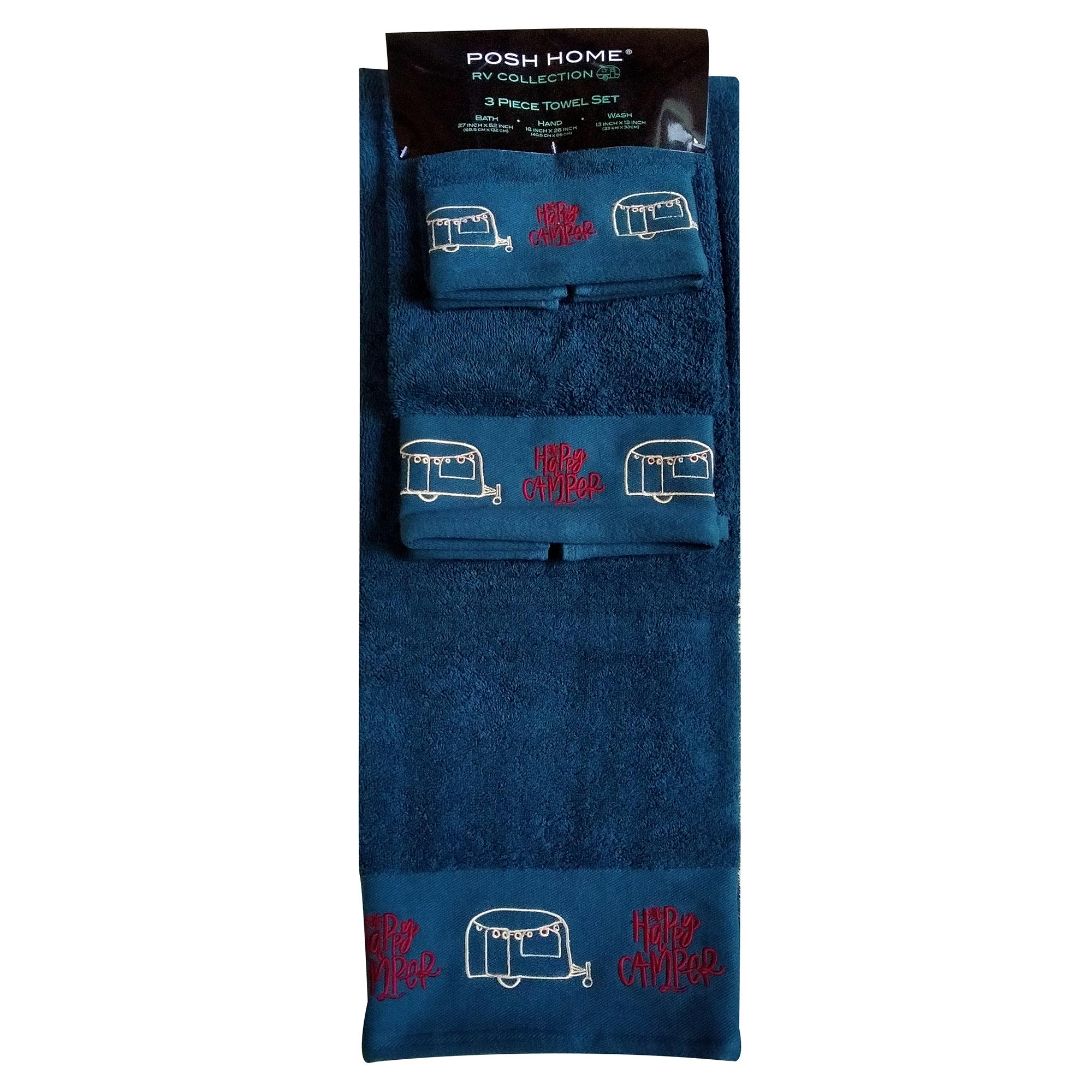 3-Piece Happy Camper Towel Set