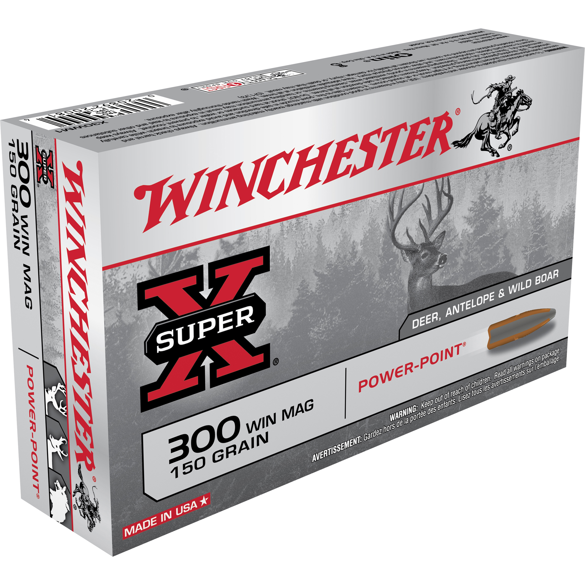 Winchester Super-X Rifle Ammo, .300 Win Mag, 150-gr, PP