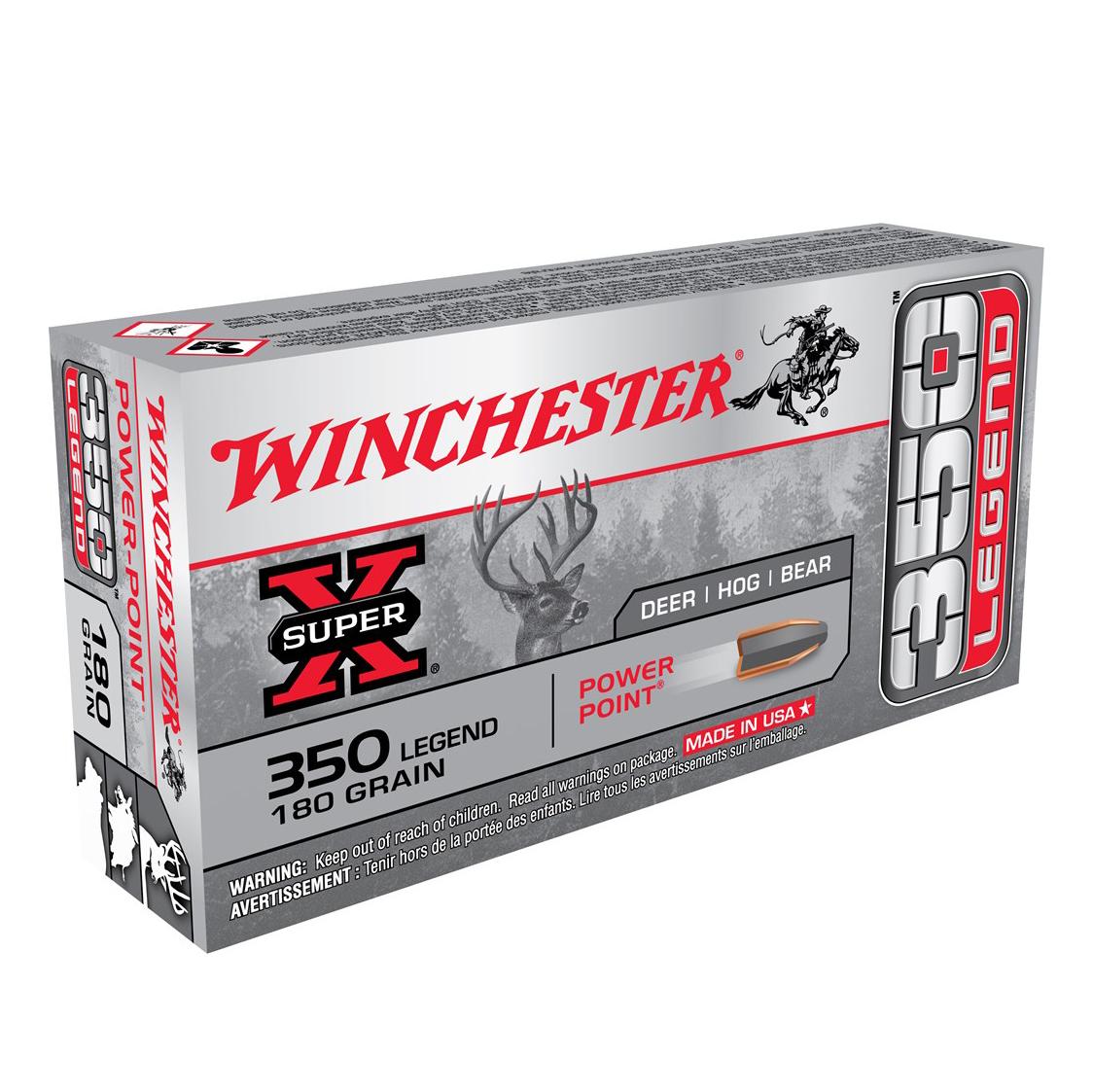 Winchester Super X 350 Legend Ammunition, 180 Gr.