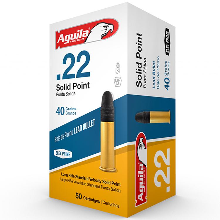 Aguila Super Extra Solid Lead Point Standard Rimfire Ammunition, .22 LR, 40-gr. thumbnail