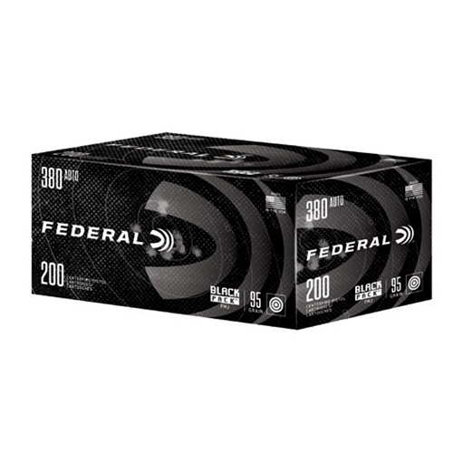 Federal Black Pack Ammo, .380 ACP Auto
