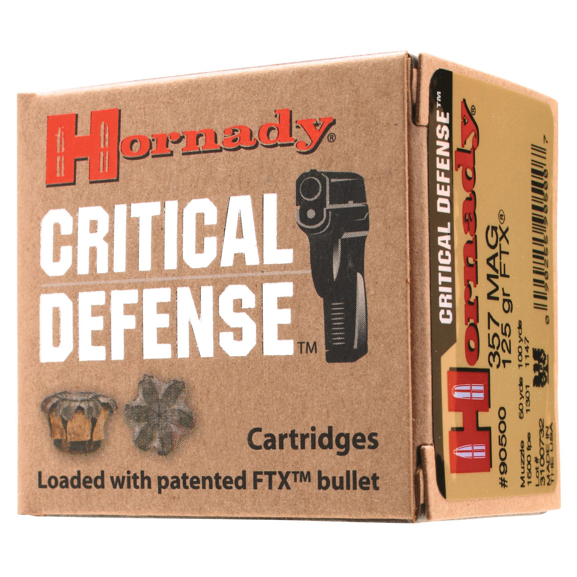 Hornady Critical Defense Handgun Ammo, .40 S & W, 165-gr, FTX, 20 Rounds