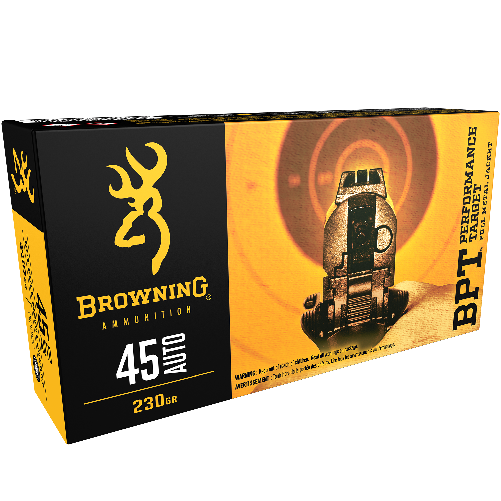 Browning BPT Performance Target Handgun Ammunition, .45 ACP, 230-gr, FMJ